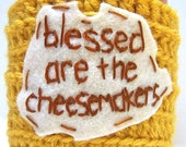 Blessed cheesemakers funny coffee mug cozy handmade