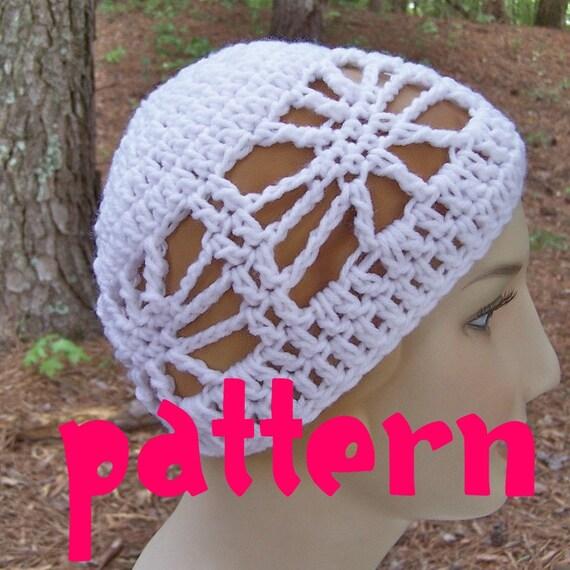 Web beanie skull cap crochet pattern quick easy