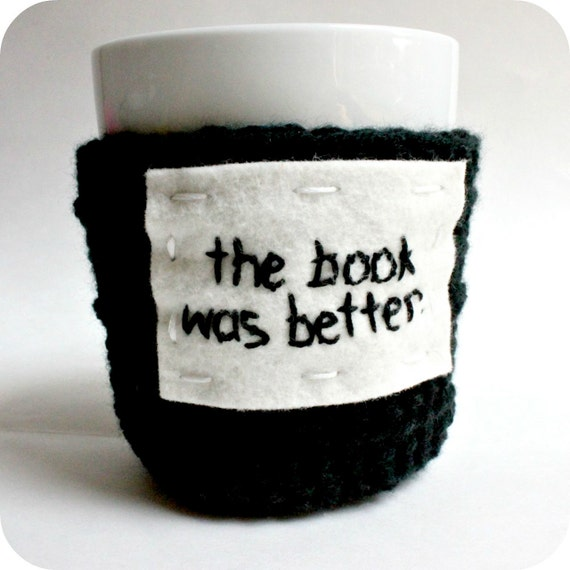 Penguin Book Cover Coffee Mugs : Items similar to coffee cozy the book was better black