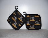 2 Pittsburgh Steelers Pot Holders