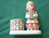 Girl with Basket of Apples Figurine (Hummel Look-a-Like)