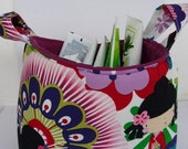 Japanese dolls - Fabric Organizer Bin Storage Container Basket