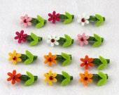 Flower Mini Clothespins - Set of 12