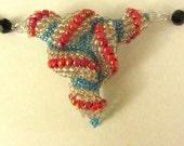 Beaded Peyote Triangle Necklace, Peyote Neckace, Triange Peyote Pendant, Beaded Jewery, Beaded Neckace, Peyote Neckace, Peyote Pendant