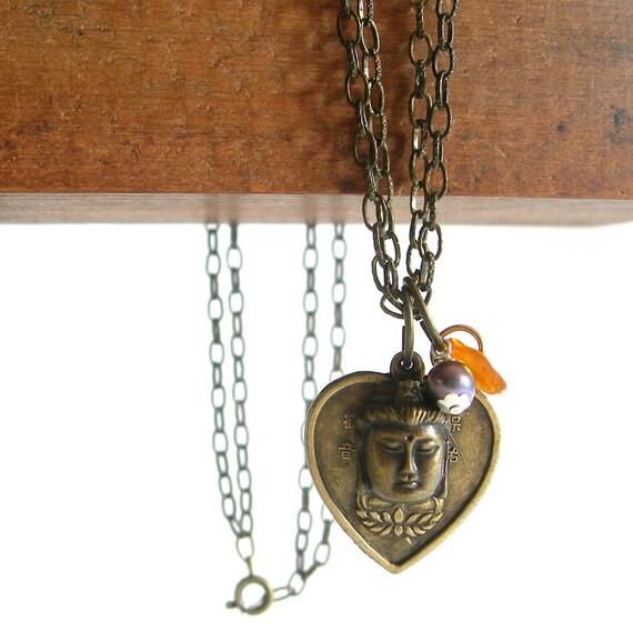 Buddha Necklace with Gemstones