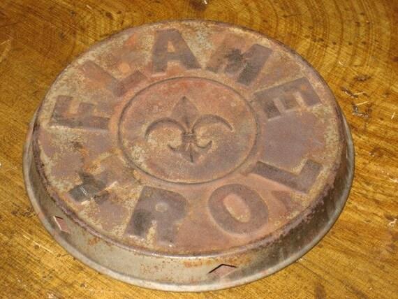 Vintage Metal Flame Trol Heat Diffuser