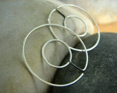INFINITY Double HOOPS - Round- sterling silver - Reversible