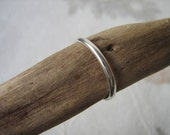 Reserved for Jaclyn - 2 Simple plain stacking/Spacer rings - 2.5mm half round - STERLING SILVER