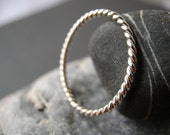 Twisted Band in Sterling Silver - Very Slim and Dainty!