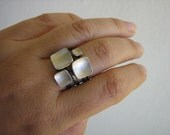 Square Bowl Stack Rings mix and match - Classic Quadro