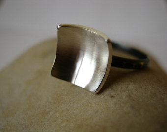 Square Bowl Ring - Sterling Silver