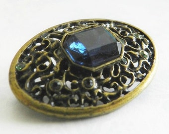 VIntage 1928 Jewelry Filigree Brooch