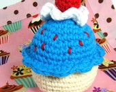 Crochet Cupcake Pretend Play Food Amigurumi, Pin Cushion - RESERVED FOR CHEESIE