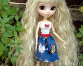 Pullip Doll Dal Cute Country Farm Chicken Dress Outfit