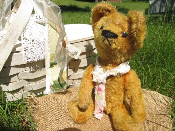 Teddy Bear Antique Golden Mohair Bear