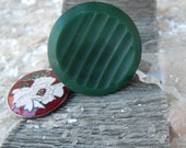 Pine, A Vintage Button Ring