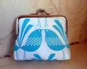 Blue Birds coin purse