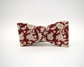 The Curator - Freestyle Red & White Bow Tie