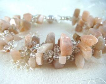 RESERVE- Peru pink opal bracelet for Vickie