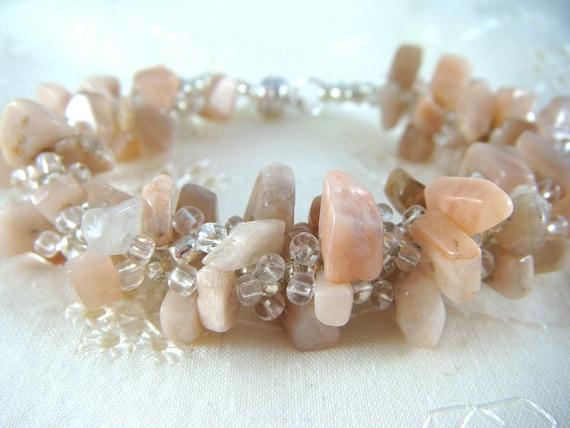 Peru Pink Opal Spiral Bracelet