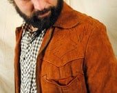 Vintage 1970s Crae Carlyle Leather Suede Western AMAZING Jacket