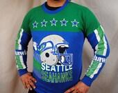 Vintage 80s Seattle Seahawks Sweatshirt