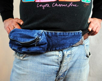 Vintage 80s Denim Fanny Hip Pack
