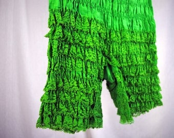 Vintage Green Ruffled Square Dancing Rockabilly Bloomers - Malco Modes