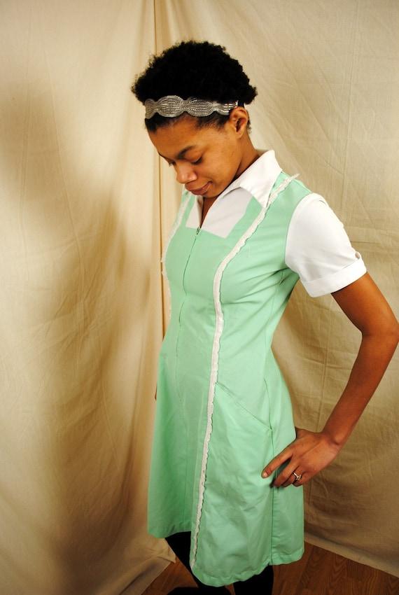 Vintage 1960s Barco Maid Uniform Dress