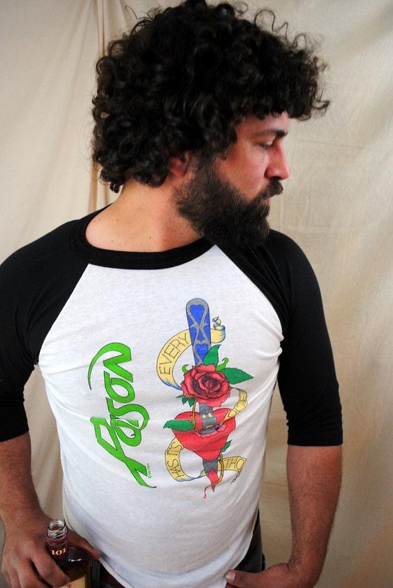Vintage POISON 80s tour Tshirt concert jersey