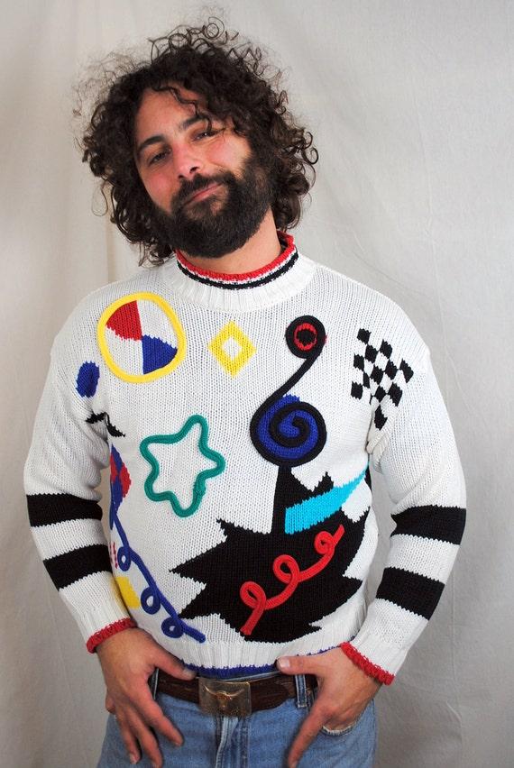 LAST CHANCE Vintage Funky Rainbow Sweater