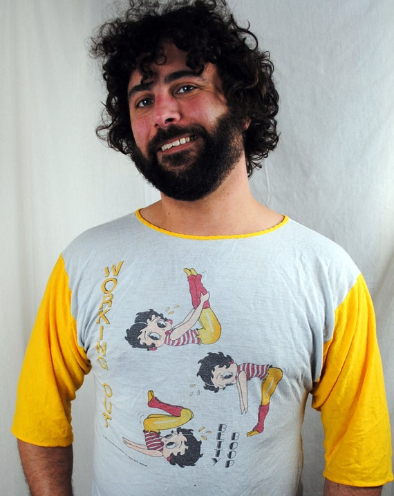 Awesome 1983 Betty Boop Ringer Work Out Tee