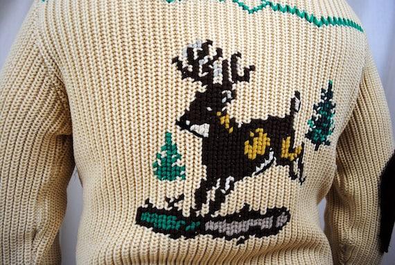 Vintage Novelty Cardigan Deer Sweater