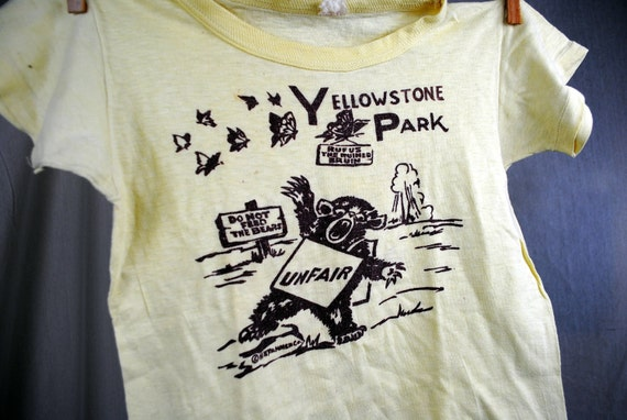 RESERVED  thekelljarVintage 1960s 70s Yellowstone Kid's Tee Shirt