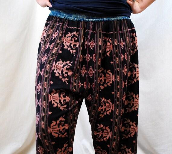 Vintage Gypsy Ethnic Harem Woven Baggy Pants