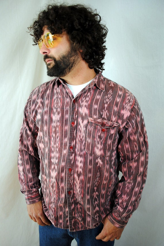 Vintage Guatemalan Hippie Button Up Shirt Top