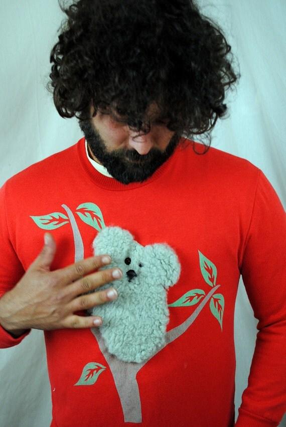 Vintage Australian Plush 3D Koala Kitschy Sweatshirt