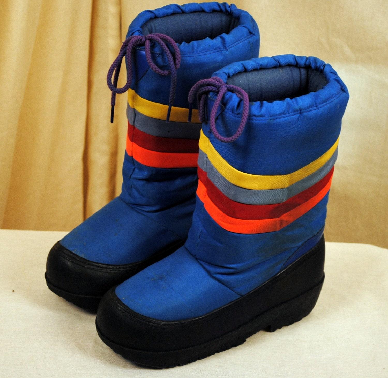 vintage 80s rainbow moon boots size 7 8