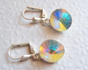 Irridescent Earrings, Shiny Earrings, Dangle Earrings, Pastel