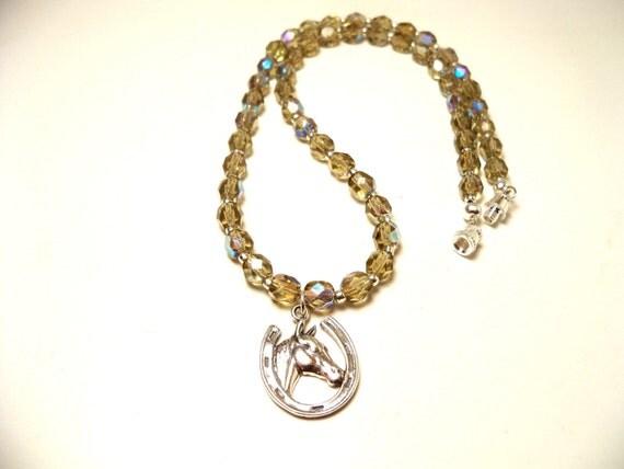 Horse Necklace, Horse, Horseshoe Necklace, Horseshoe, Horse Shoe, Woman, Teen, Horse Jewelry