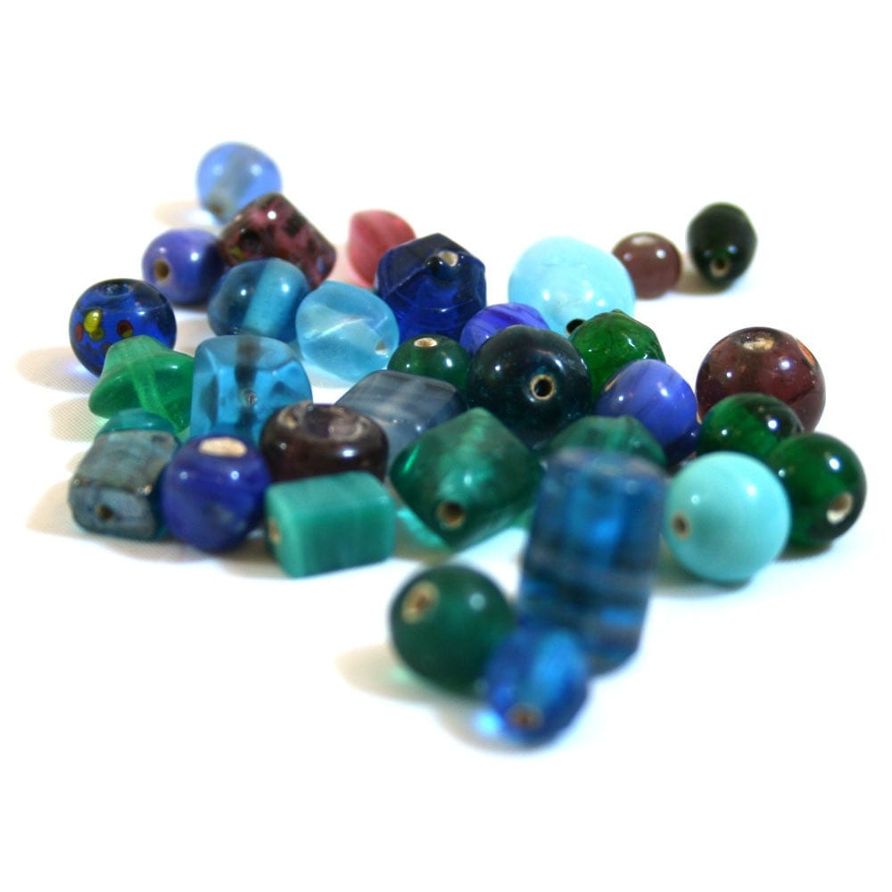 bead mix grab bag blue purple green kab by krissyannesupplies. Black Bedroom Furniture Sets. Home Design Ideas
