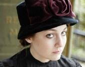 the Virginia Poe hat, 1900s 1980s in black