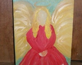Faceless Angel Painting