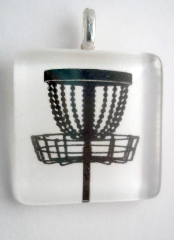 Disc Golf Glass tile Pendant