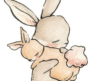 My Baby Bunny. PRINT 8X10. Nursery Art Wall Decor