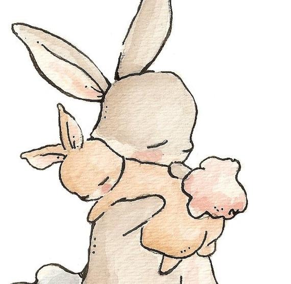 My Baby Bunny. PRINT 8X10. Nursery Art Wall Decor