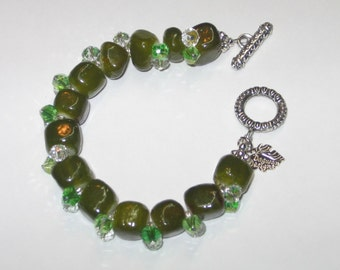 Green with Envy- dyed green jade