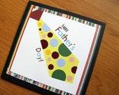 Father's Day, polka dot tie, square, fun card