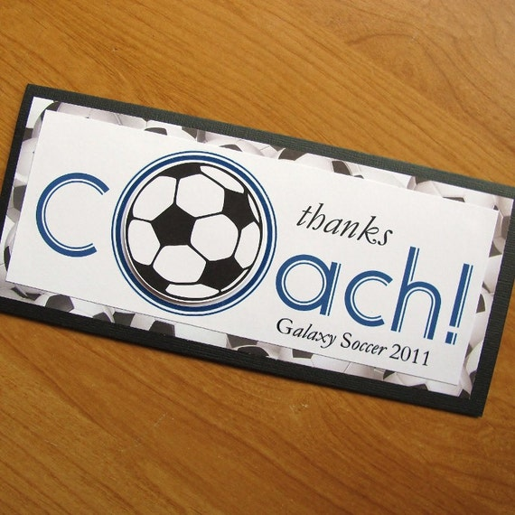 Soccer Thanks Coach Card/Personalized Coach Card