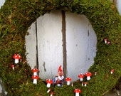 Moss Wreath, Giggling Gnome Wreath